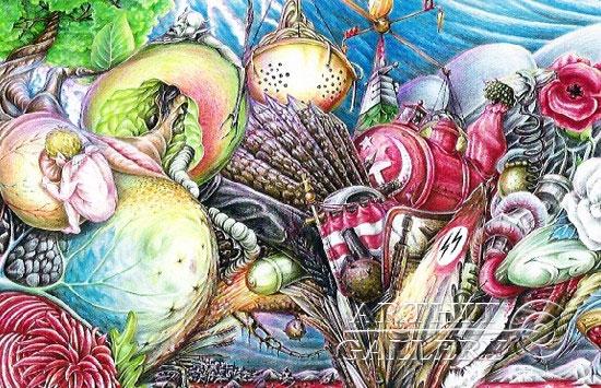 ''Час пик на мосту ЭГО''.  Гржибовский Глеб. Продажа картин, предметов декоративно-прикладного искусства