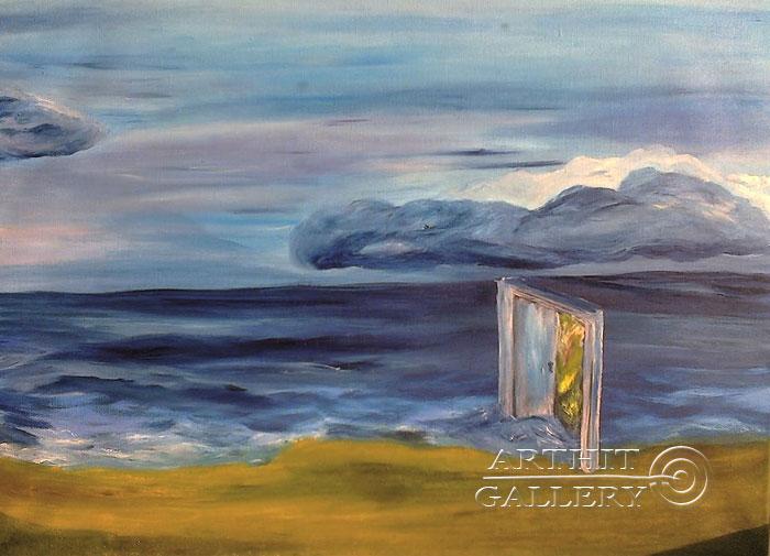 ''Прогулка, дверь''.  Генцарь Рената. Продажа картин, предметов декоративно-прикладного искусства