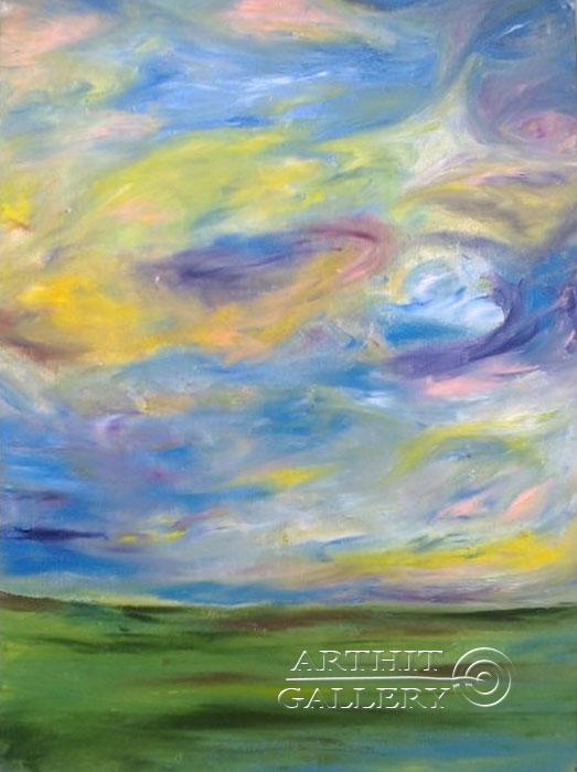 ''Радужные облака ''.  Генцарь Рената. Продажа картин, предметов декоративно-прикладного искусства