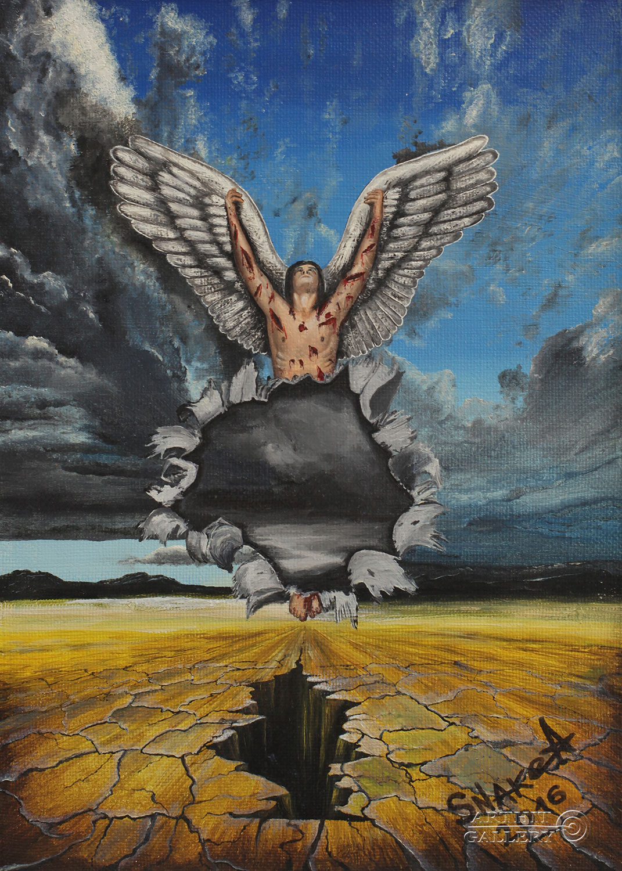 Surrealism paintings for sale surrealism angel for Angel paintings for sale