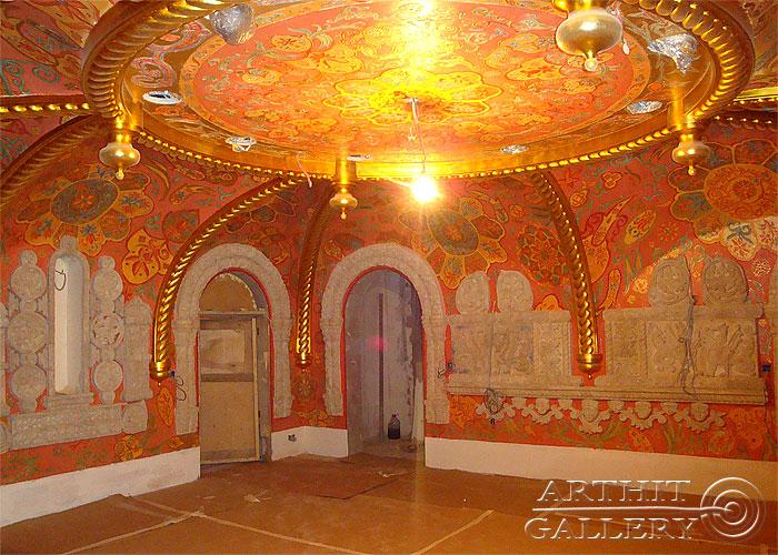 ''Интерьеры дома: Роспись стен и потолка #3''.  Сапрыкина Ксения. Живопись, художественная роспись стен.