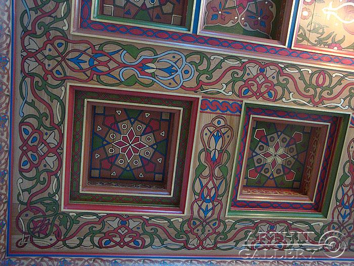 ''Интерьеры дома: Роспись потолка #6''.  Сапрыкина Ксения. Живопись, художественная роспись стен.